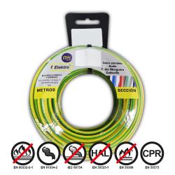 Carrete cablecillo flexible 4 mm. bicolor 25 mts. libre-halogeno