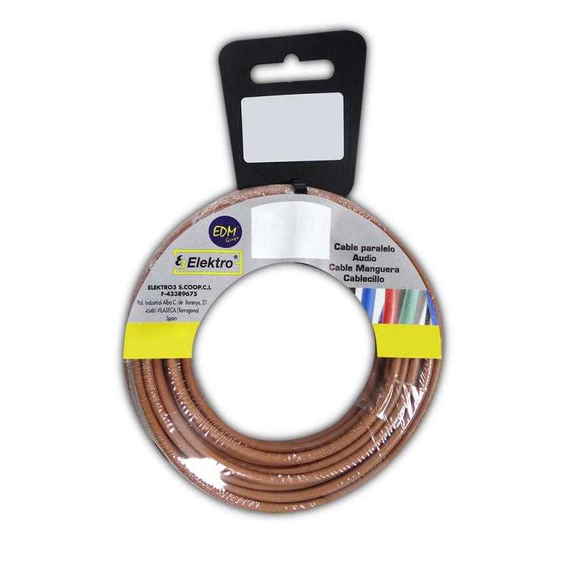 Carrete cablecillo flexible 6 mm. marron 25 mts. libre-halogeno