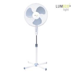 Ventilador pie 45w diam45cm aspas 40cm altura regulable 60-80cm lumeco