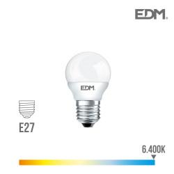 *ult.unidades* bombilla esferica led - smd - e27 - 5w - 400 lumens - 6400k - luz fria - edm
