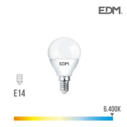 *ult.unidades* bombilla esferica led - smd - e14 - 5w - 400 lumens - 6400k - luz fria - edm