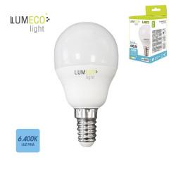 Bombilla esferica led - e14 - 5w - 400 lumens - 6400k - luz fria - lumeco