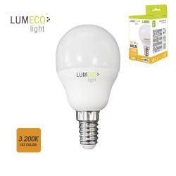 Bombilla esferica led - e14 - 5w - 400 lumens - 3200k - luz calida - lumeco