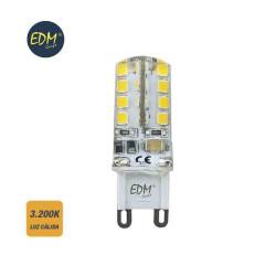 Bombilla g-9 220-240v led 2,5w 200 lumens 3.200k luz calida serie silicona edm