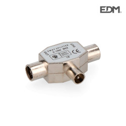 Derivador 1 clavija+2 bases metalico extra envasado edm