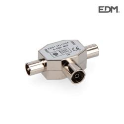 Derivador 1 base+2 clavijas metalico extra envasado edm