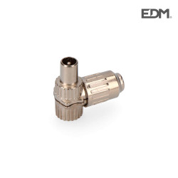 Clavija tv acodada metalica 9,5mm edm envasada
