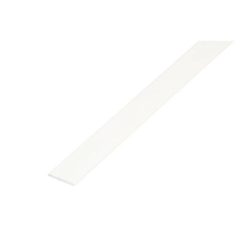 Pletina 2,5mt. Aluminio 20x3mm. Blanco de Amig