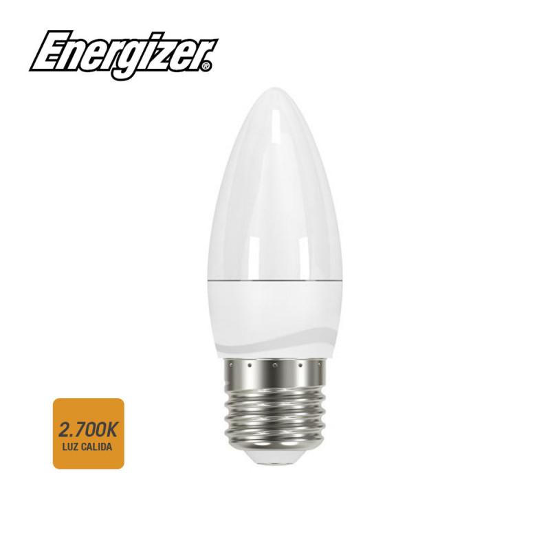 Bombilla vela led e27 5,9w 470 lumens  luz calida 2700k 10,8x3,8cm