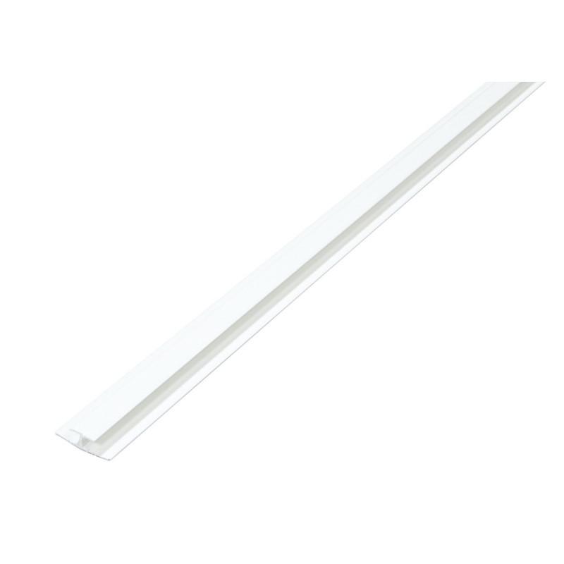 Unión H Desigual PVC 25x11x1mt. Blanco de Amig