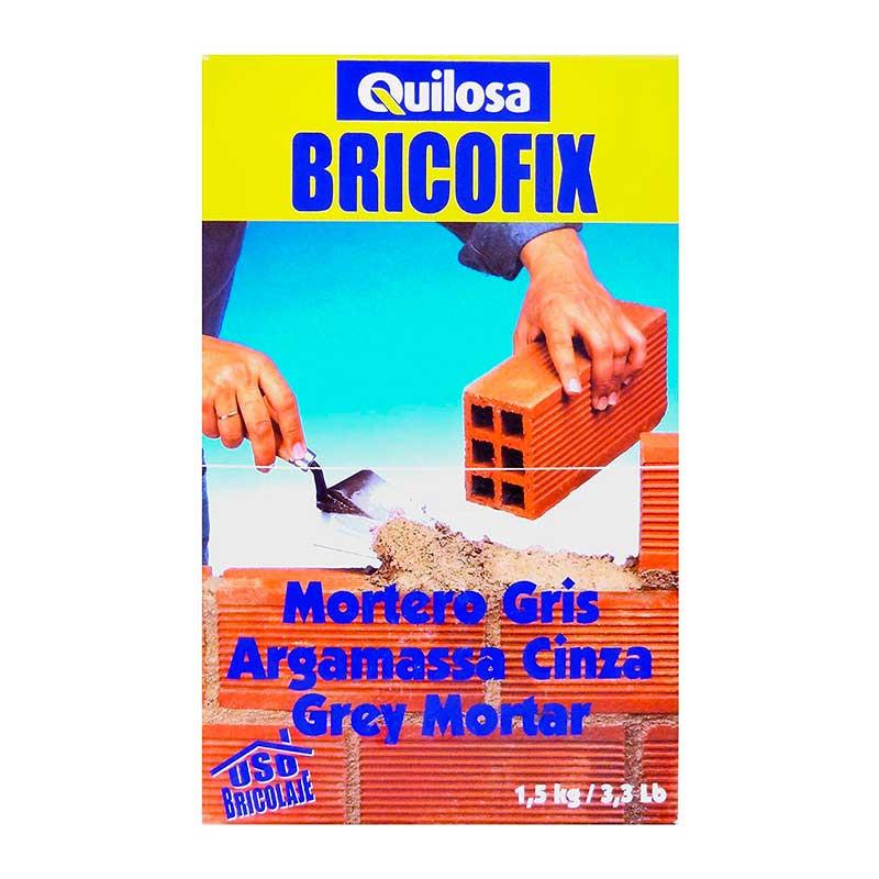 BRICOFIX Mortero Gris 1,5 Kg Quilosa