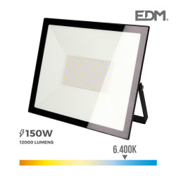 "Foco proyector led  150w 6400k ""black edition"" edm"