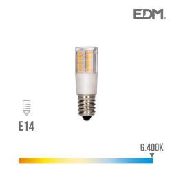 Bombilla led pebetero e14 5.5w 6400k 230v 650 lumens con base ceramica  edm
