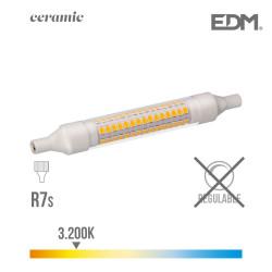 Bombilla lineal led 118mm 9w 3200k 230v 1100 lumens con base ceramica edm