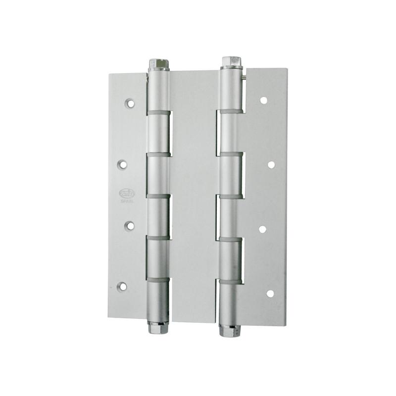Bisagra Doble Acción Aluminio Plata de Amig