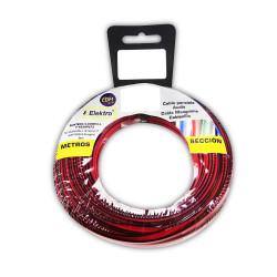 Carrete paralelo 2x1,5 Rojo-Negro 25m (audio). Edm