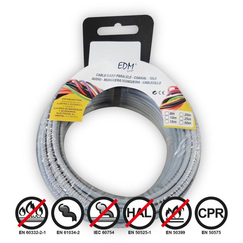 Carrete cablecillo flexible 1,5mm gris 10m libre-halogeno
