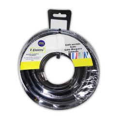 Carrete cablecillo flexible 6 mm. negro 10 mts. libre-halogeno