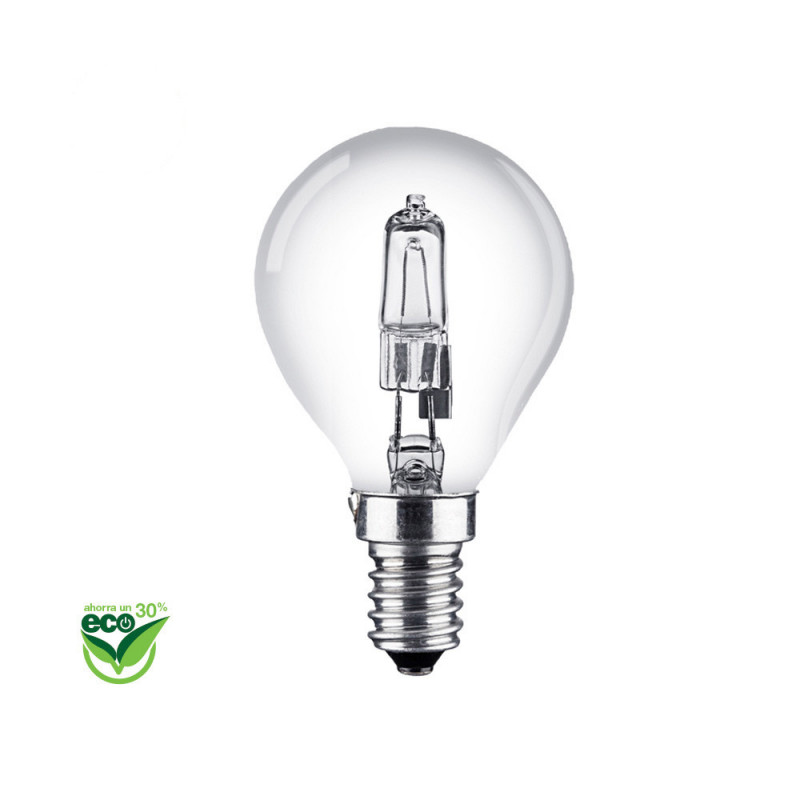 "Bombilla halogena esferica ""energy saver"" e14 42w (equ. 60w) clara"