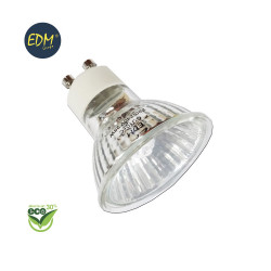 """Bombilla halogena dicroica gu10 """"energy saver"""" 220-240v 40w (equ. 50w) edm"""