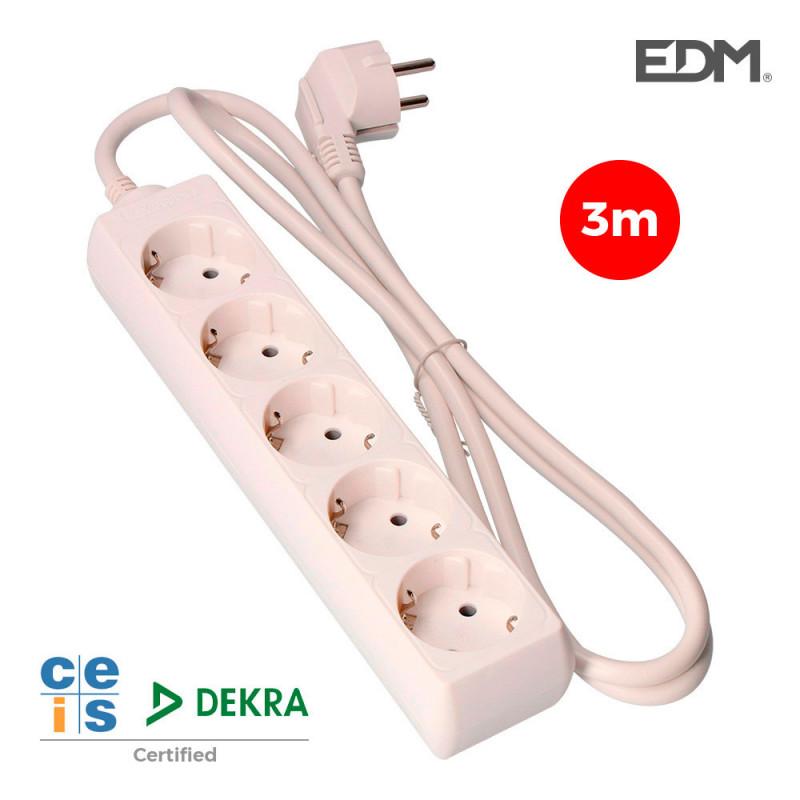 Base multiple 5 tomas t/tl 3m 3x1,5mm