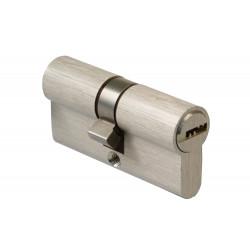 Bombillo Cilindro Misma Llave 25x25x10mm. Latón/Cromo Mate de Amig