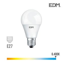 Bombilla standard led - e27 - 10w - 810 lumens - 6400k - luz fria -  edm