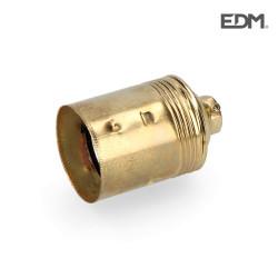 Portalamparas hierro laton e-27 envasado edm