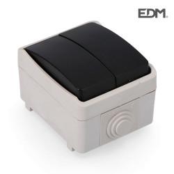 Doble conmutador estanco economico retractilado edm  ip44