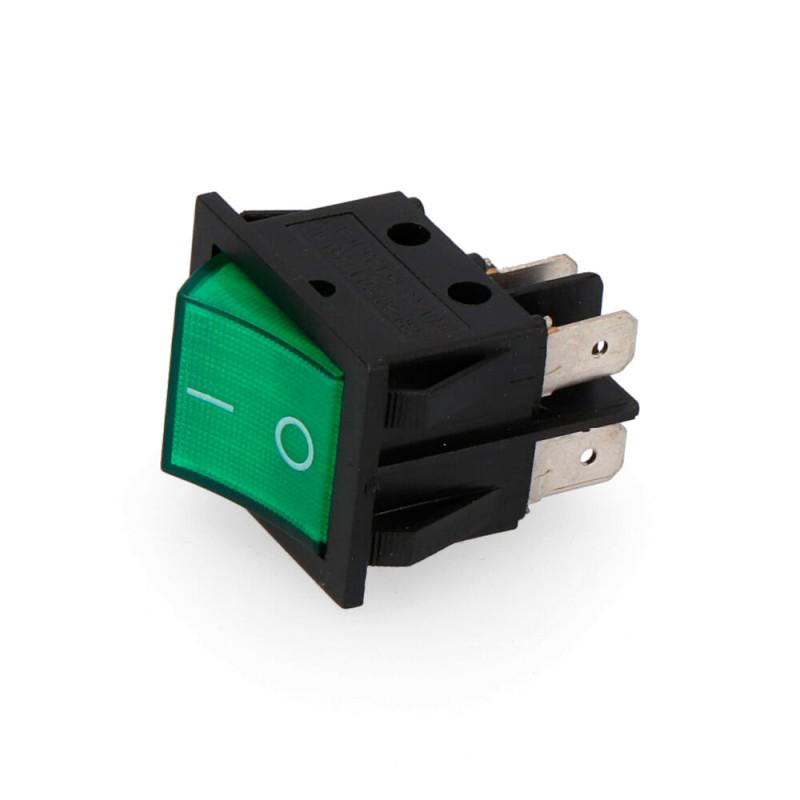 Interruptor bipolar 15a 250v verde
