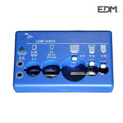 Comprobador bombillas universal edm