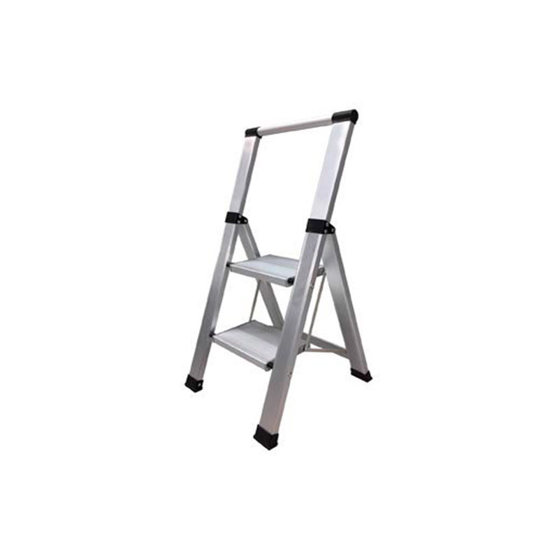 Escalera doméstica Aluminio Plana 2 Peldaños Bresme