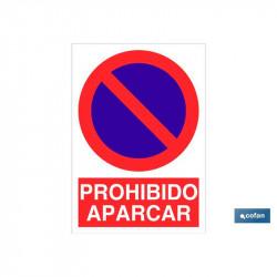 SEÑAL POLIESTIRENO PROHIBIDO APARCAR 297X210MM