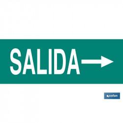 SEÑAL LUMINISCENTE - SALIDA DCHA. 400X100MM