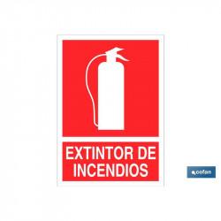 SEÑAL LUMINISCENTE EXTINTOR INCENDIOS 297X210MM