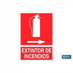 SEÑAL LUMINISCENTE EXTINTOR INCENDIOS DERECHA 297X210MM