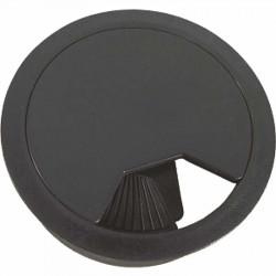 Tapa Pasacables 80x22 mm Negro
