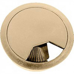 Tapa Pasacables 60x22 mm Beige
