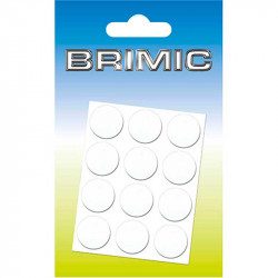 Tapón Adhesivo Cabeza Tornillos 20Ud 17 mm Blanco Brimic
