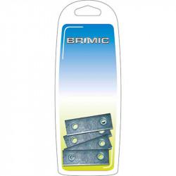 Placa Cartela 40x15mm Zincado Brimic