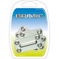 Placa Rectangular 70x35mm Zincado Brimic