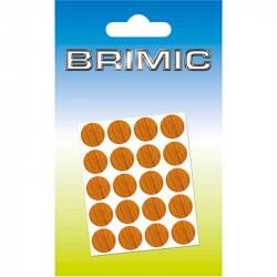 Tapón Adhesivo Cabeza Tornillos 13mm Roble Oscuro Brimic