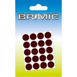 Tapón Adhesivo Cabeza Tornillos 13mm Caoba Brimic