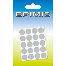 Tapón Adhesivo Cabeza Tornillos 13mm Cromado Brimic
