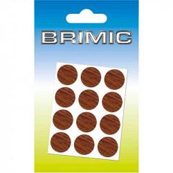 Tapón Adhesivo Cabeza Tornillos 17 mm Nogal Brimic