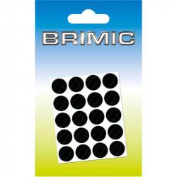 Tapón Adhesivo Cabeza Tornillos 25mm Negro Brimic