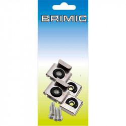 Juego Soporte Espejo 45x25mm Zincado Brimic
