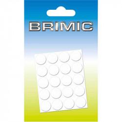 Tapón Adhesivo Cabeza Tornillos 13mm Blanco Liso Brimic