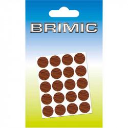 Tapón Adhesivo Cabeza Tornillos 13mm Nogal Brimic