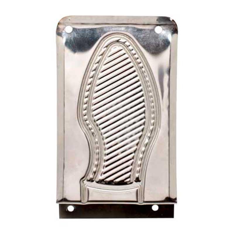 Placa Pisa Puerta 147x98mm Inox Micel
